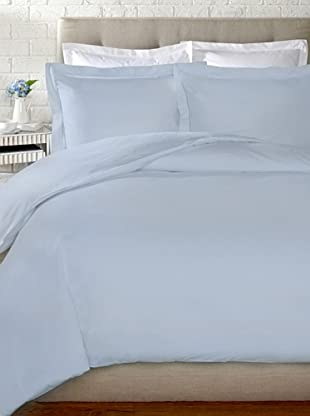 Mason Street Textiles 400TC Organza Hemstitch Duvet Set (Powder Blue)