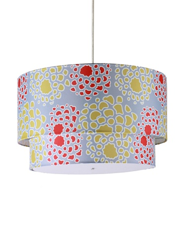 Inhabit Floral Hudson Double Pendant Lamp (Scarlet/Mustard)