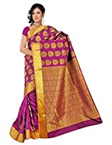 Kanchipuram Art Silk Saree- Magenta