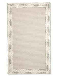 Natural Rugs Tiffany Dot-Border Rug (Cream)