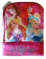 Disney Princess Lunch Bag Featuring Belle, Ariel, Sleeping Beauty, And Cinderella.