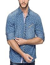 Spykar Men Cotton Lt.Blue Casual Shirt (X-Large)