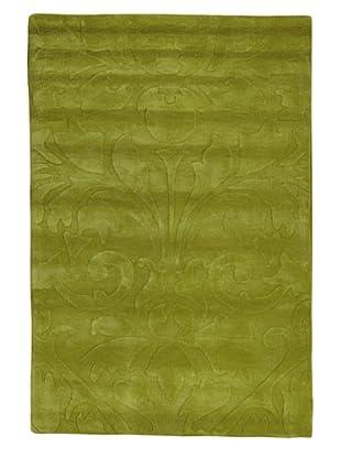 Kavi Handwoven Rugs Contemporary Rug, Green, 4' x 6'
