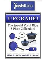 Yoshi Blue 8 Piece Cookware As Seen On TV Frying Pan