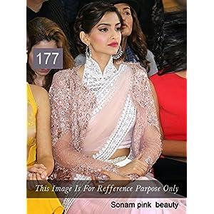 Sonam Kapoor in White Designer Net Sarees