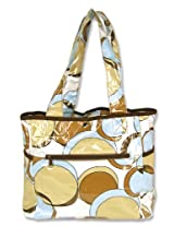 Trend Lab Tulip Tote Style Diaper Bag Bubbles Teal
