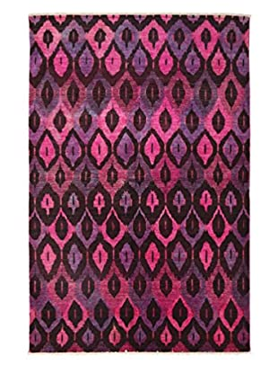 Darya Rugs Traditional Oriental Rug, Pink, 5' 9