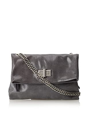 Pietro Alessandro Women's The Marluy Shoulder with Chain Strap (Grey)
