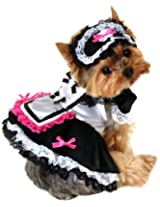 Anit Accessories 8-Inch French Maid Dog Costume, X-Small