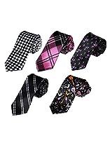 DANF0020 Working Day Slim Neckwear Stain Skinny Ties Set Handmade - 5 Styles Available By Dan Smith