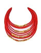 Monisha Daga Metal Choker For Women Red - NE3-R