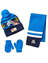 Berkshire Little Boys' 3 Piece Jake and The Neverland Pirates Beanie Mitten and Scarf, Multi, One Size