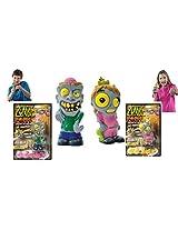 Zombie Dead Zed And Zombie Creepy Kim Popper Toy Set