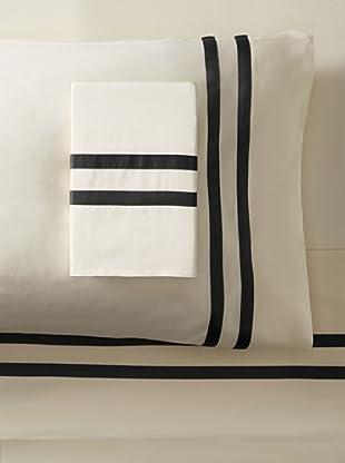 Errebicasa Como 300 TC Sheet Set (Panna/Black)