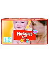 Huggies Dry Diapers Large - 30 Pcs (8 - 14 Kgs)