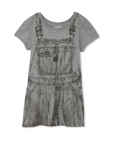 Coupé Cutie Girl's Printed Jersey Tee (Grey)