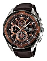 Casio Edifice EFR-539L-5AV Leather Strap Men's Chronograph Watch