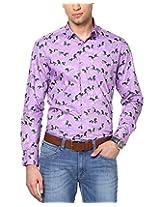 See Designs Men Buttoned Shirt (SDMDWSS14SH172_XXL, Purple, XXL)