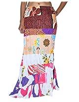 Famacart Women Long Skirt Multicolor