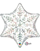 """22"""" Holographic Dazzling Snowflake 6-Point Star Foil Balloon"""