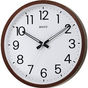 DAILY (デイリー) 掛時計 フラットフェイスN 音の静かな連続秒針 シンプルデザイン 8MGA32DA06