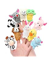 Catterpillar Set Of 10 Animal Finger Puppets