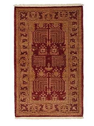 Darya Rugs Traditional Oriental Rug, Red, 3' 2