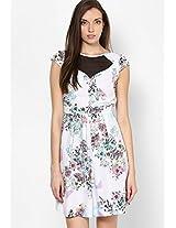 Lola Skye Geometric Floral Print Dress