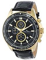 Lucien Piccard Men's LP-12552-YG-01-BK Cartagena Analog Display Japanese Quartz Black Watch