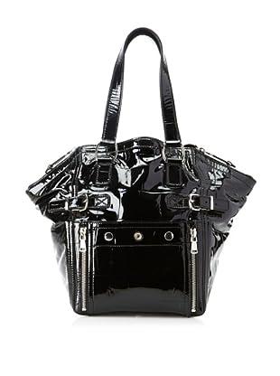 Yves Saint Laurent Women's Patent Leather Downtown Bag, Black