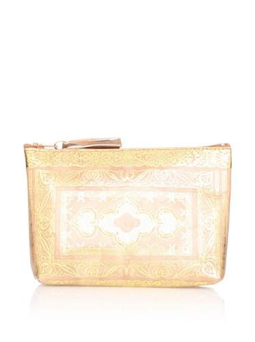 Sweet Bella Leather Venetian Zipper Case, Beige