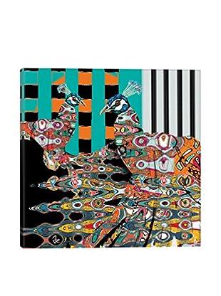 Giulio Rossi Peacocks Canvas Print,