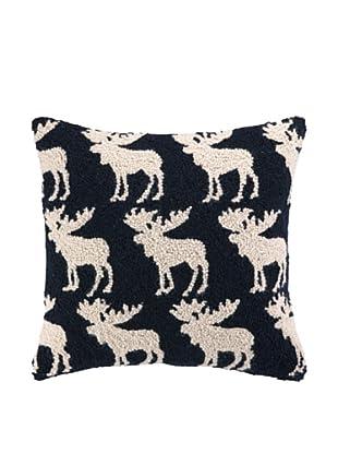 Peking Handicraft So Many Moose Hook Pillow