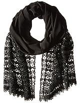 La Fiorentina Women's Crochet Evening Wrap with Sequins, Black, One Size