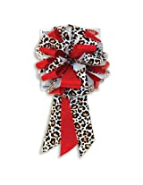 "Qualatex MasterBow 10"" Cheetah/Red Lacquered Pre-Made Bows"