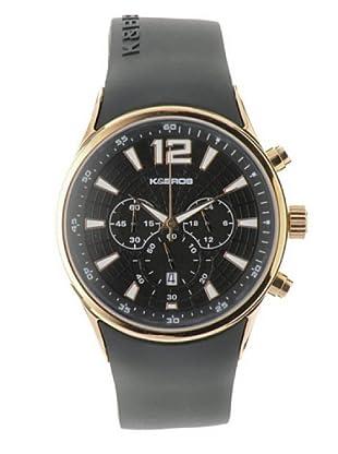 K&BROS 9463-3 / Reloj de Caballero  con correa de caucho Negro