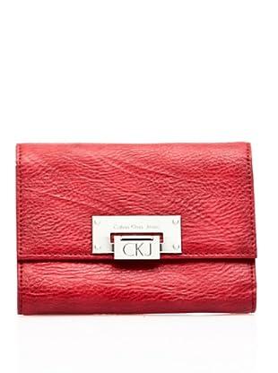Calvin Klein Jeans Billetero Monedero Crj110 (Rojo)