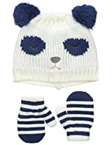 Carters Baby-Girls Knit Panda Bear Set