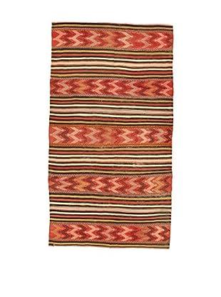 Design Community By Loomier Teppich Kilim Caucasico koralle/mehrfarbig 140 x 260 cm