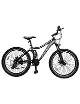 "Lumala MTB 26"" Max 1000 21 Speed Steel Mountain Bike (M, Grey)"