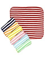 Wonderkids Stripes Print Baby Washcloth, Set Of 7