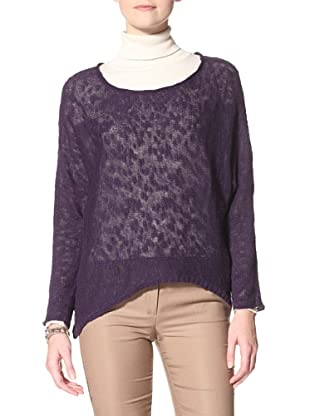 Acrobat Women's Slub High-Low Dolman Sweater (Gooseberry)