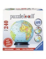 Ravensburger Puzzle Ball Globe + Booklet; 240 Pieces By Ravensburger