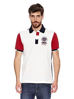 Signore Dei Mari Polo Este (Blanco / Rojo)