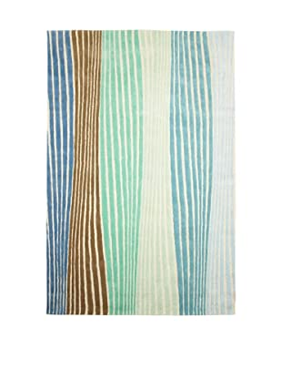XpressWeave Riley Rhythms Rug (Blue/Green/White/Olive)