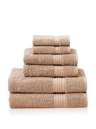 Chortex 6-Piece New Savannah Towel Set, Cappuccino