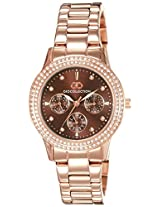 Gio Collection Analog Brown Dial Women's Watch - G2013-77