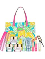 Estee Lauder Lilly Pulitzer Makeup Set With Tote And Day Wear .5 Oz