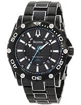 Bulova Men's 98B153 Precisionist Champlain Steel + black ion Watch