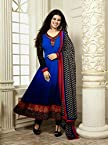 Ayesha Takia Blue Top Georgette with Santoon Botton & Chiffon Dupatta With Print & Embroidery Anarkali Salwar Kameez Suit
